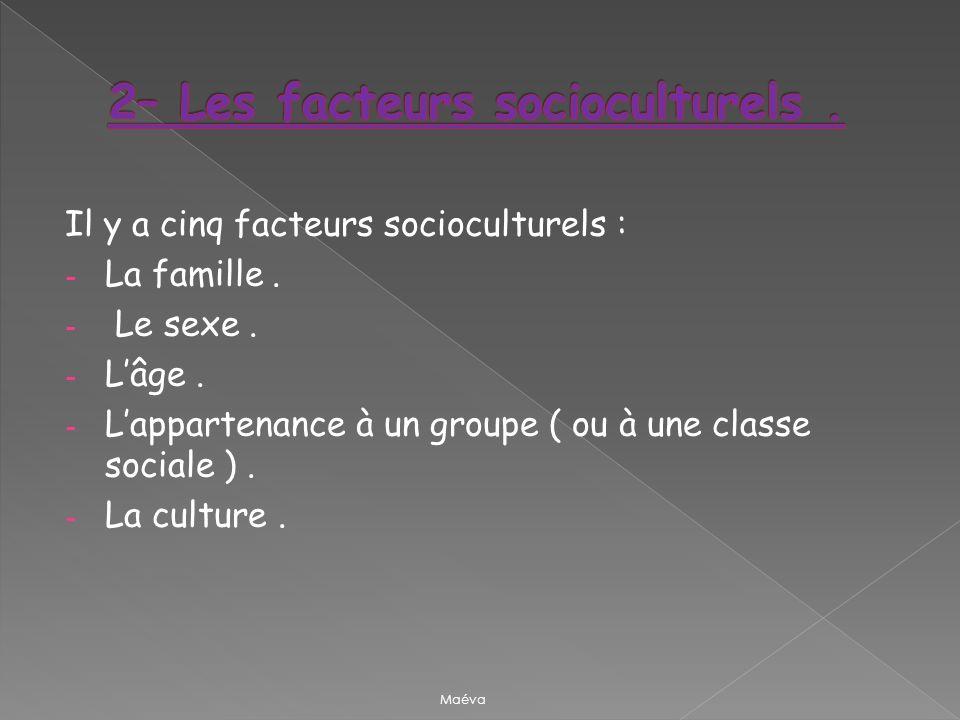2– Les facteurs socioculturels .