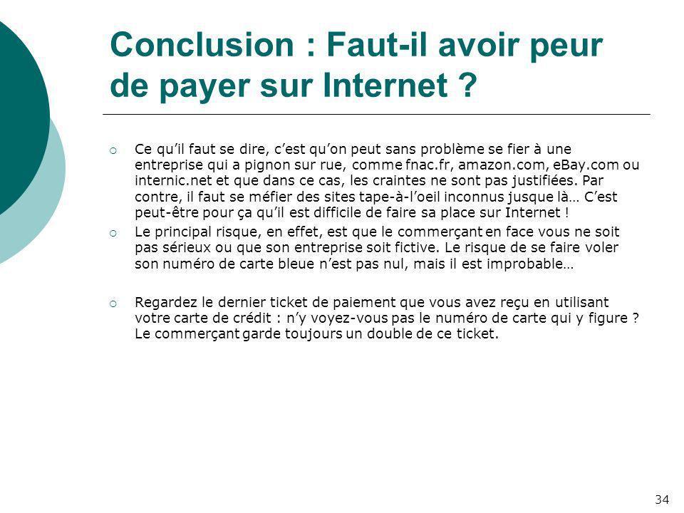 Conclusion : Faut-il avoir peur de payer sur Internet