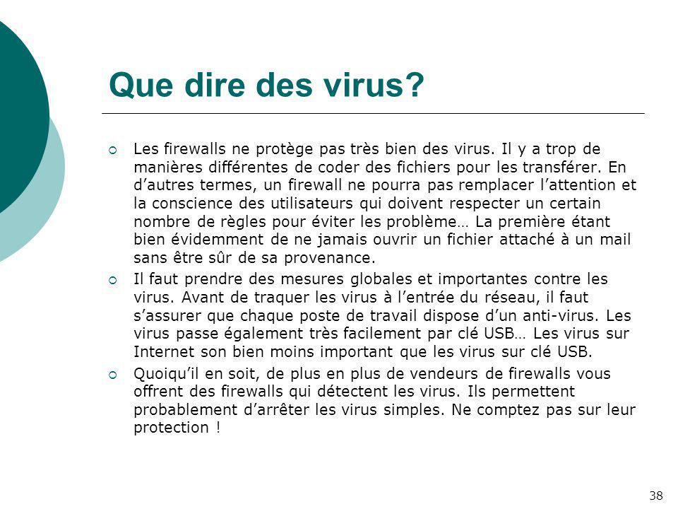 Que dire des virus