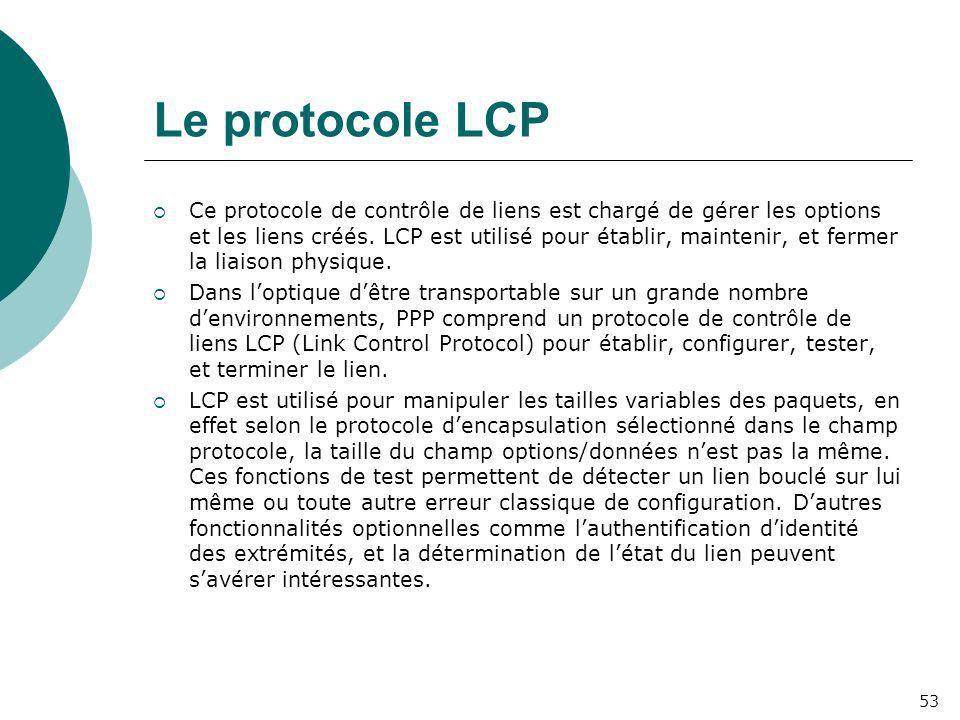 Le protocole LCP