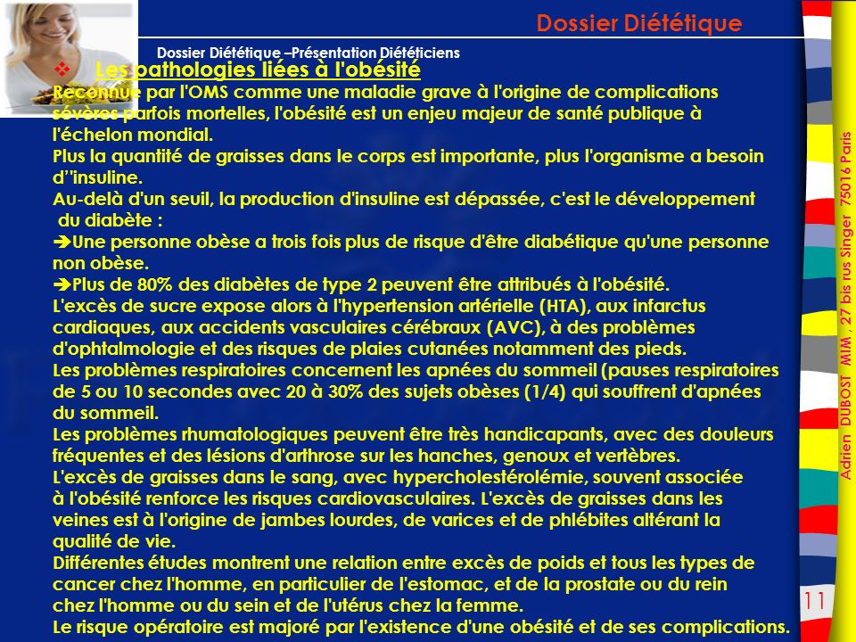 Dossier Diététique Les pathologies liées à l obésité