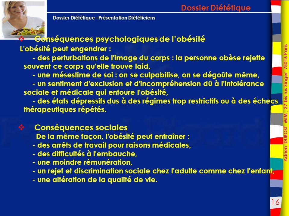 Conséquences psychologiques de l'obésité
