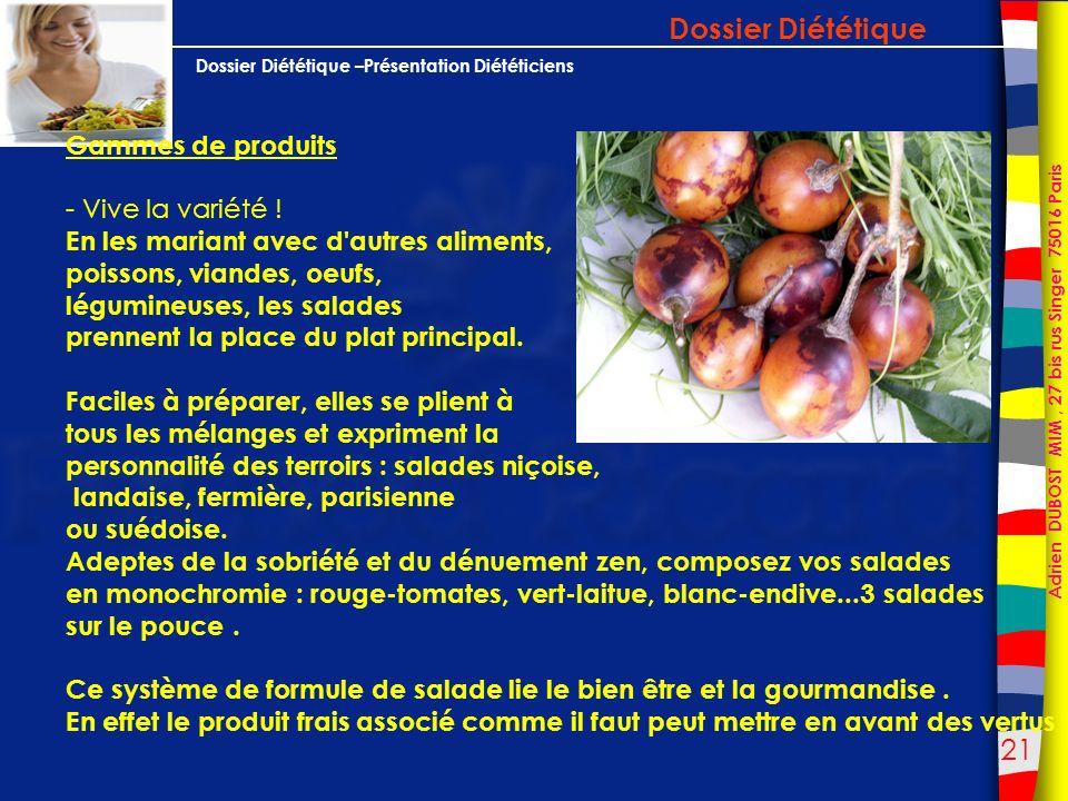 Dossier Diététique Gammes de produits - Vive la variété !