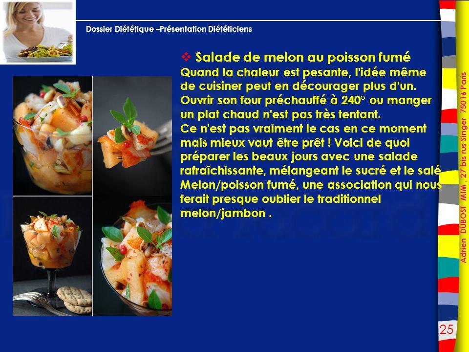 Salade de melon au poisson fumé