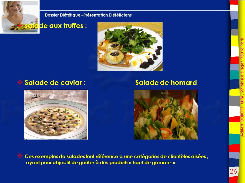 Salade de caviar : Salade de homard