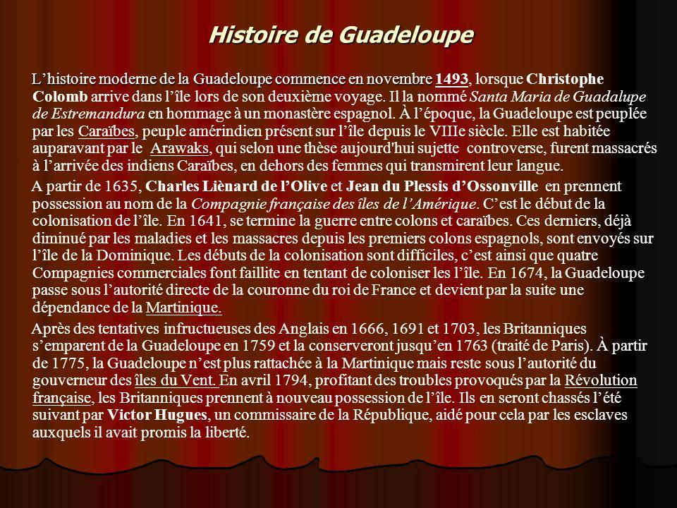 Histoire de Guadeloupe