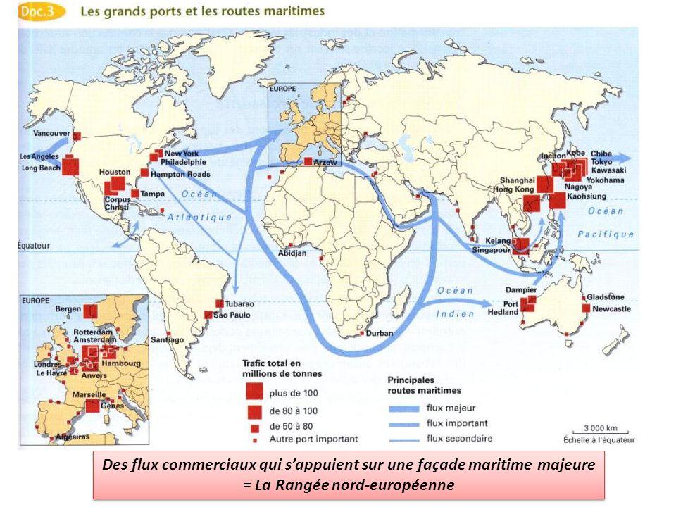 Des flux commerciaux qui s'appuient sur une façade maritime majeure = La Rangée nord-européenne