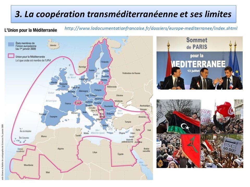 3. La coopération transméditerranéenne et ses limites