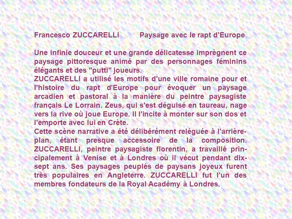 Francesco ZUCCARELLI Paysage avec le rapt d Europe