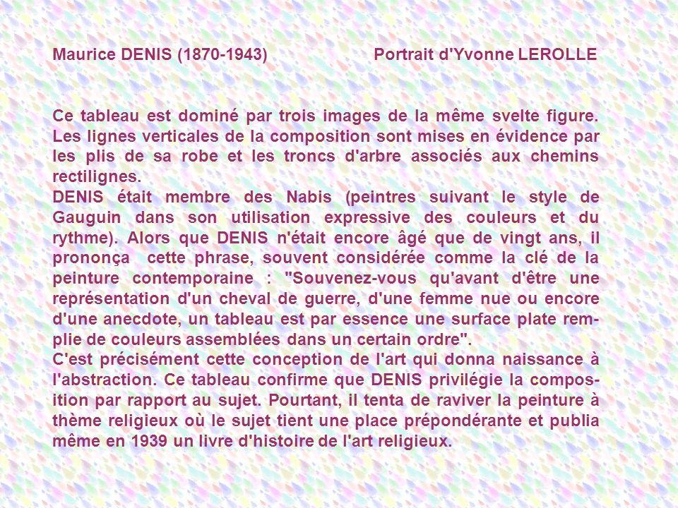 Maurice DENIS (1870-1943) Portrait d Yvonne LEROLLE