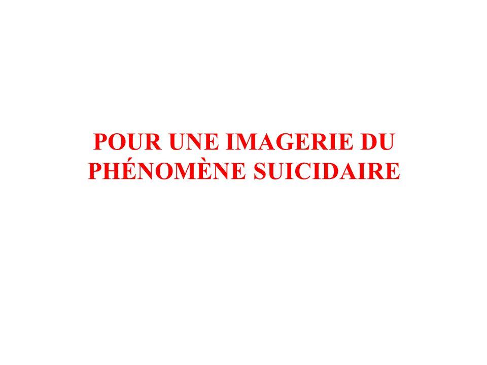 POUR UNE IMAGERIE DU PHÉNOMÈNE SUICIDAIRE