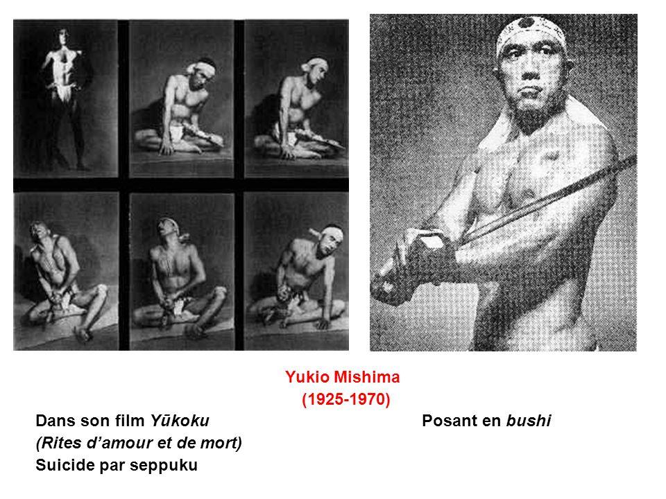 Yukio Mishima (1925-1970) Dans son film Yūkoku Posant en bushi.