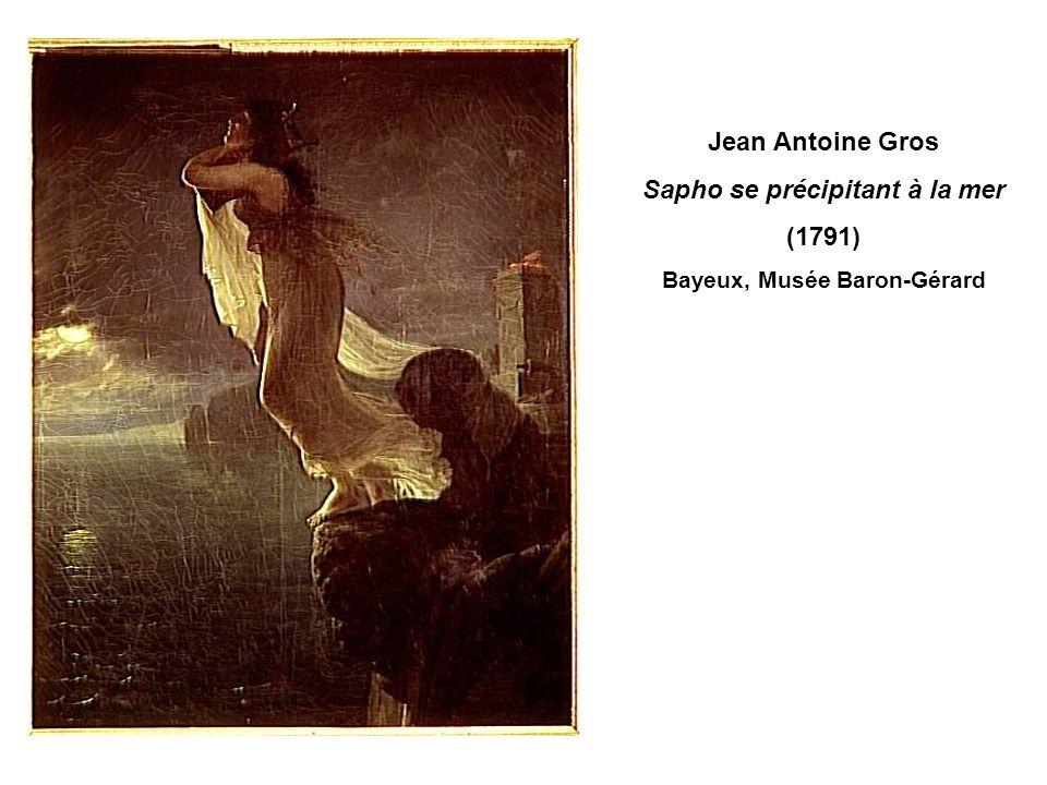 Sapho se précipitant à la mer Bayeux, Musée Baron-Gérard