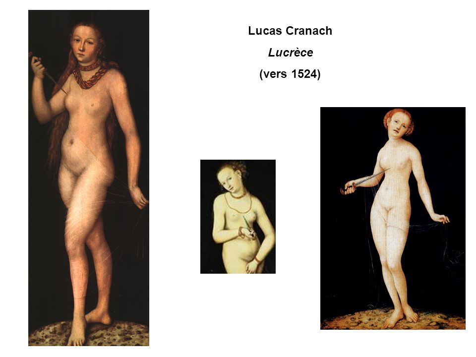Lucas Cranach Lucrèce (vers 1524)