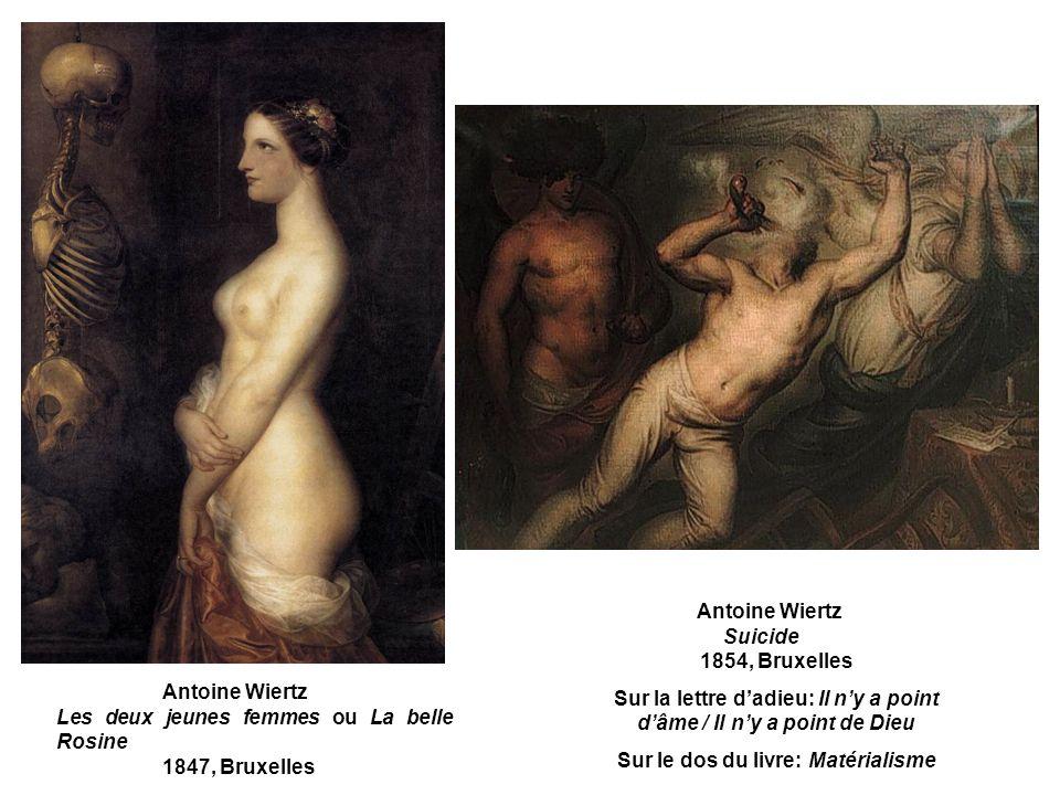 Antoine Wiertz Suicide 1854, Bruxelles