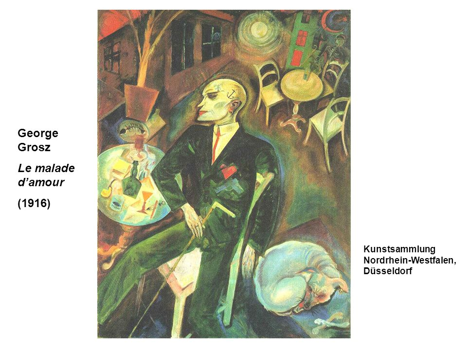 George Grosz Le malade d'amour (1916)