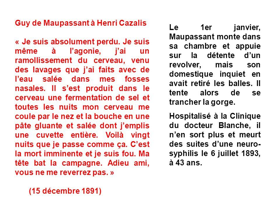 Guy de Maupassant à Henri Cazalis
