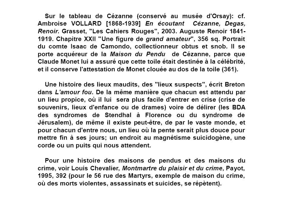 Sur le tableau de Cézanne (conservé au musée d Orsay): cf