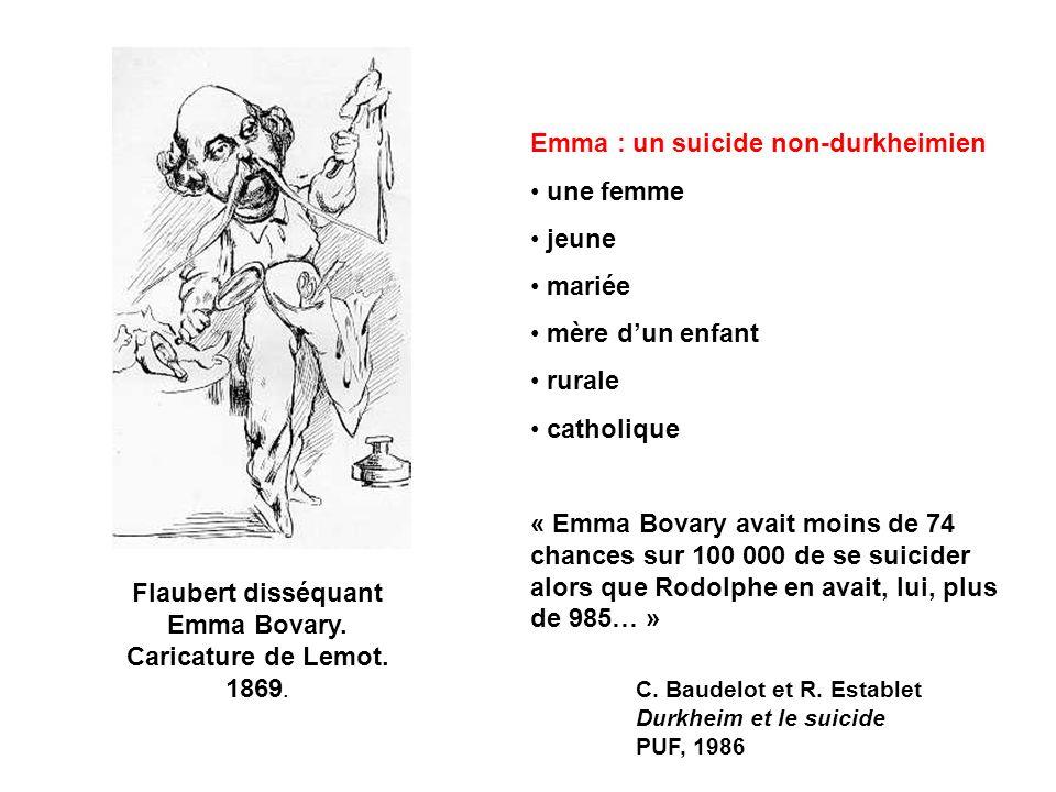 Flaubert disséquant Emma Bovary. Caricature de Lemot. 1869.