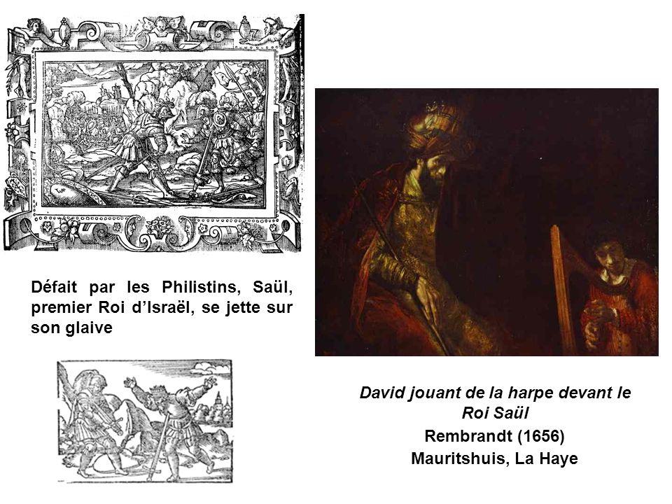 David jouant de la harpe devant le Roi Saül