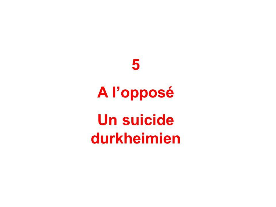 Un suicide durkheimien