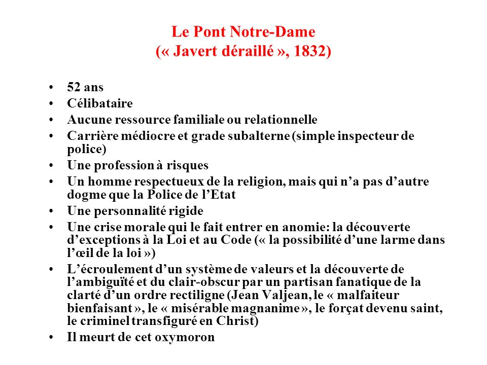 Le Pont Notre-Dame (« Javert déraillé », 1832)