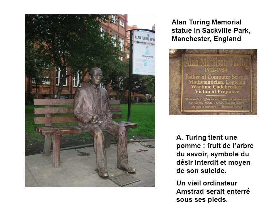 Alan Turing Memorial statue in Sackville Park, Manchester, England