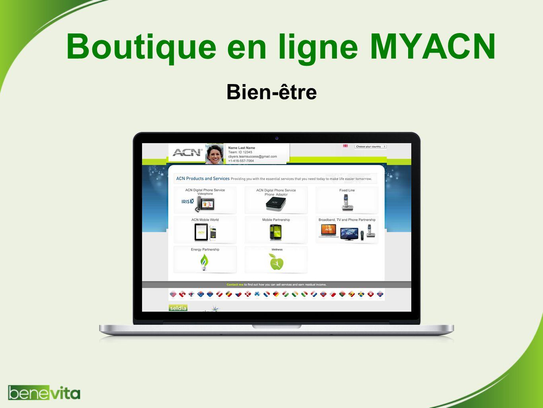 Boutique en ligne MYACN