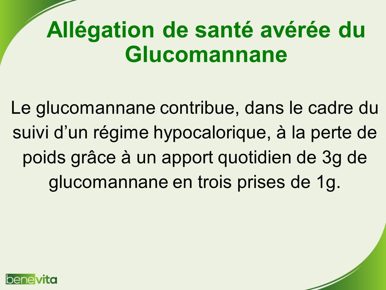 Allégation de santé avérée du Glucomannane