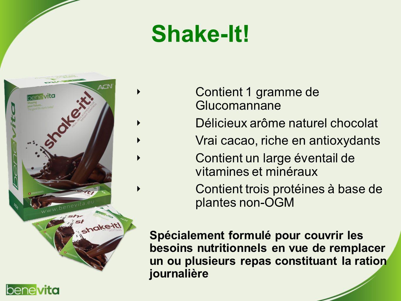 Shake-It! Contient 1 gramme de Glucomannane