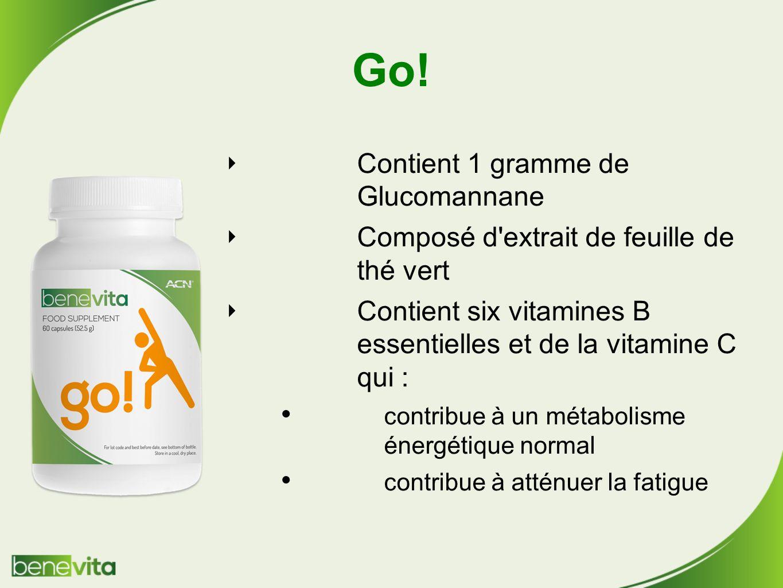 Go! Contient 1 gramme de Glucomannane