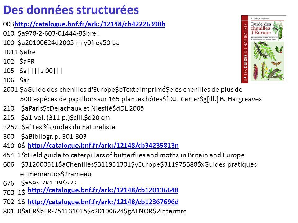 Des données structurées