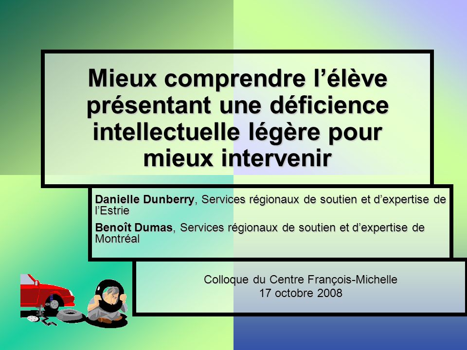 Colloque du Centre François-Michelle