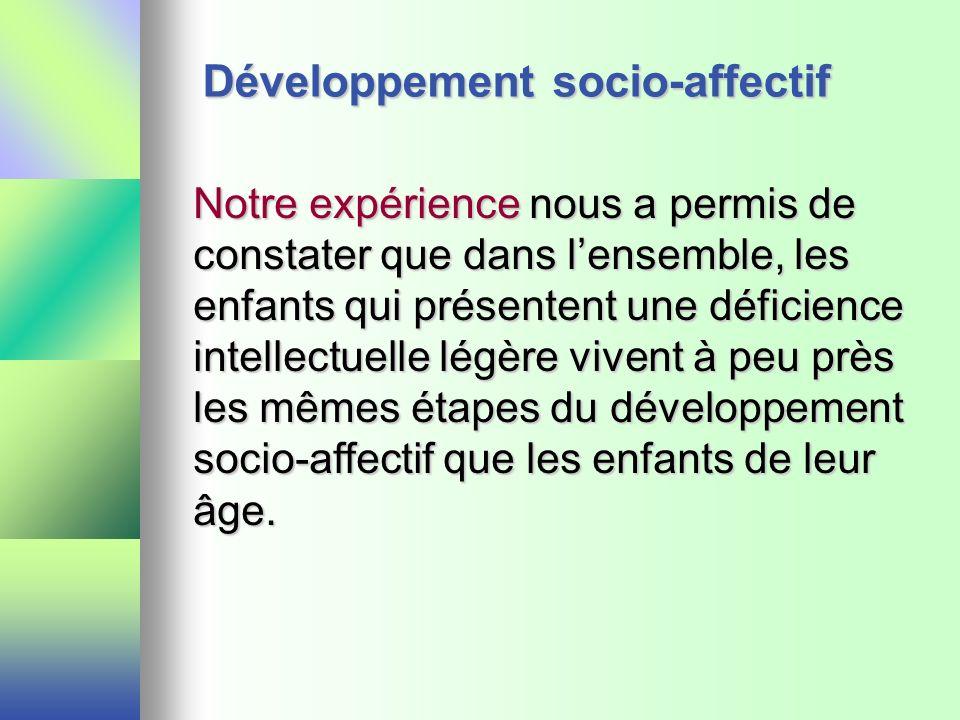 Développement socio-affectif