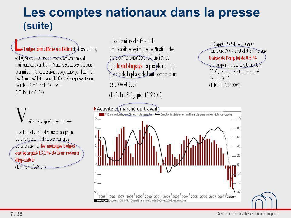 Les comptes nationaux dans la presse (suite)