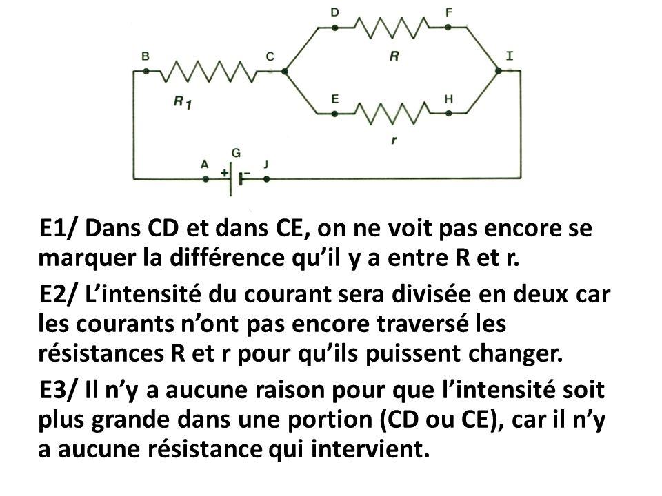 E1/ Dans CD et dans CE, on ne voit pas encore se marquer la différence qu'il y a entre R et r.
