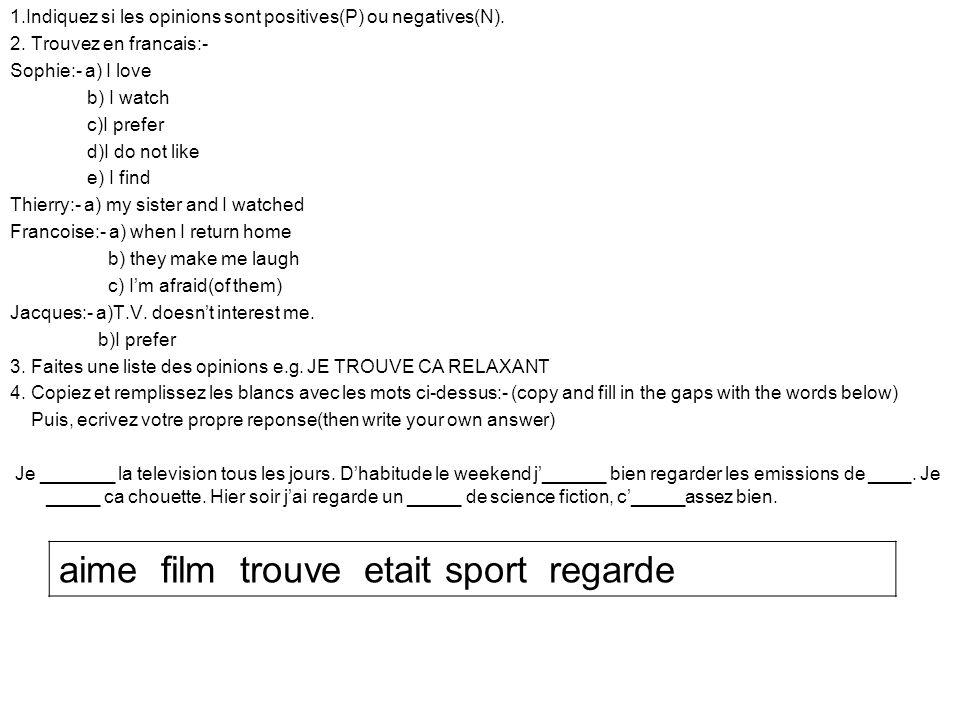 aime film trouve etait sport regarde