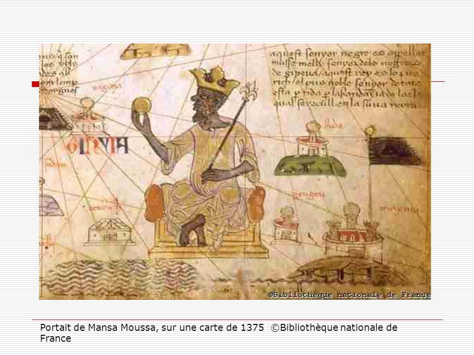 Portait de Mansa Moussa, sur une carte de 1375 ©Bibliothèque nationale de France