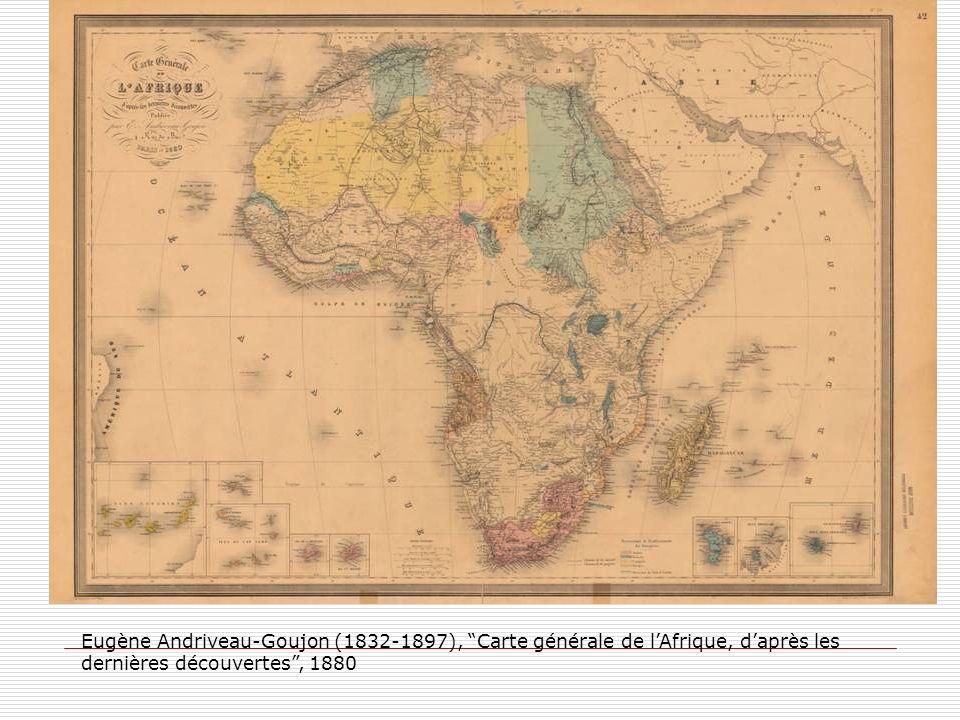 Eugène Andriveau-Goujon (1832-1897), Carte générale de l'Afrique, d'après les dernières découvertes , 1880