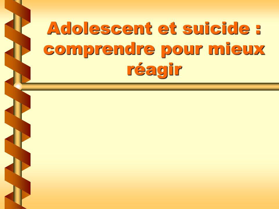 Adolescent et suicide : comprendre pour mieux réagir