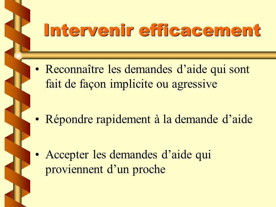 Intervenir efficacement