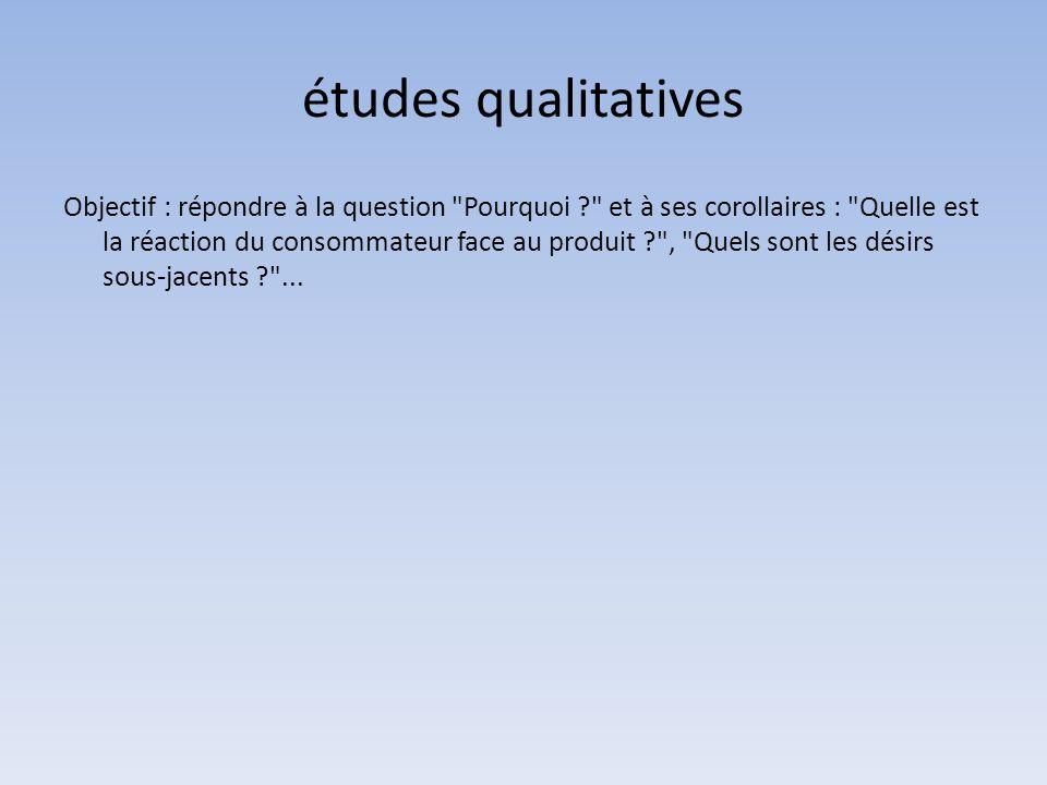 études qualitatives