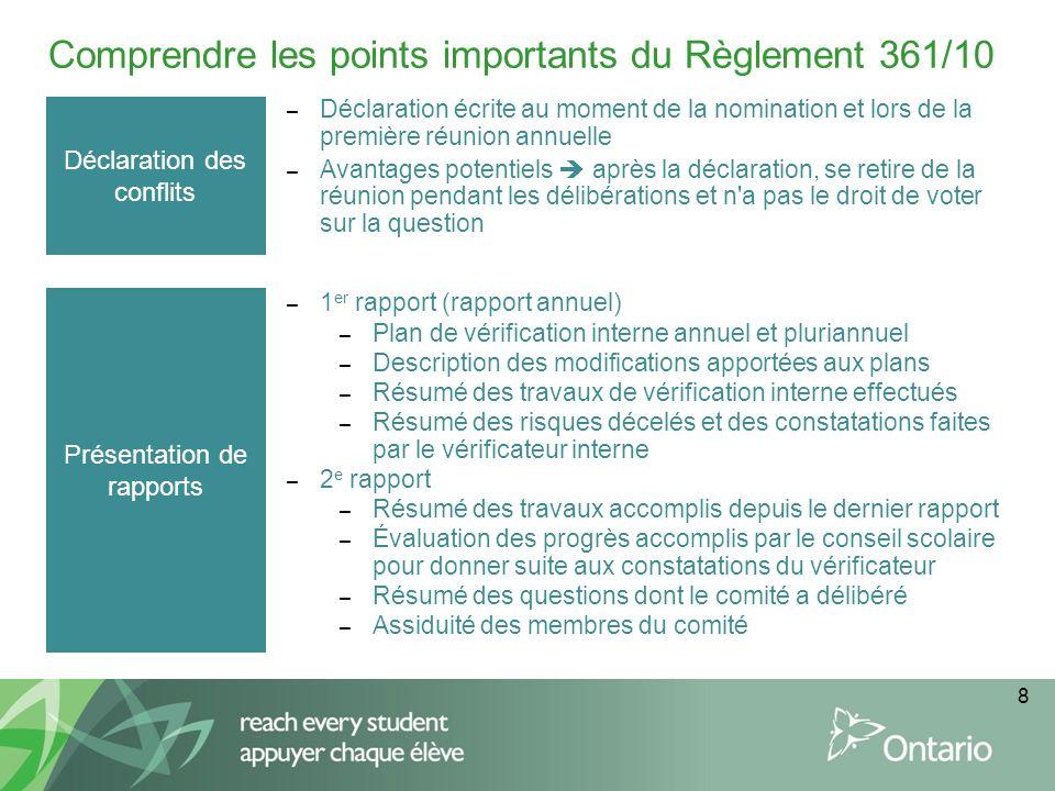 Comprendre les points importants du Règlement 361/10
