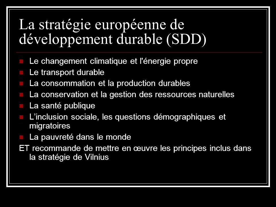La stratégie européenne de développement durable (SDD)