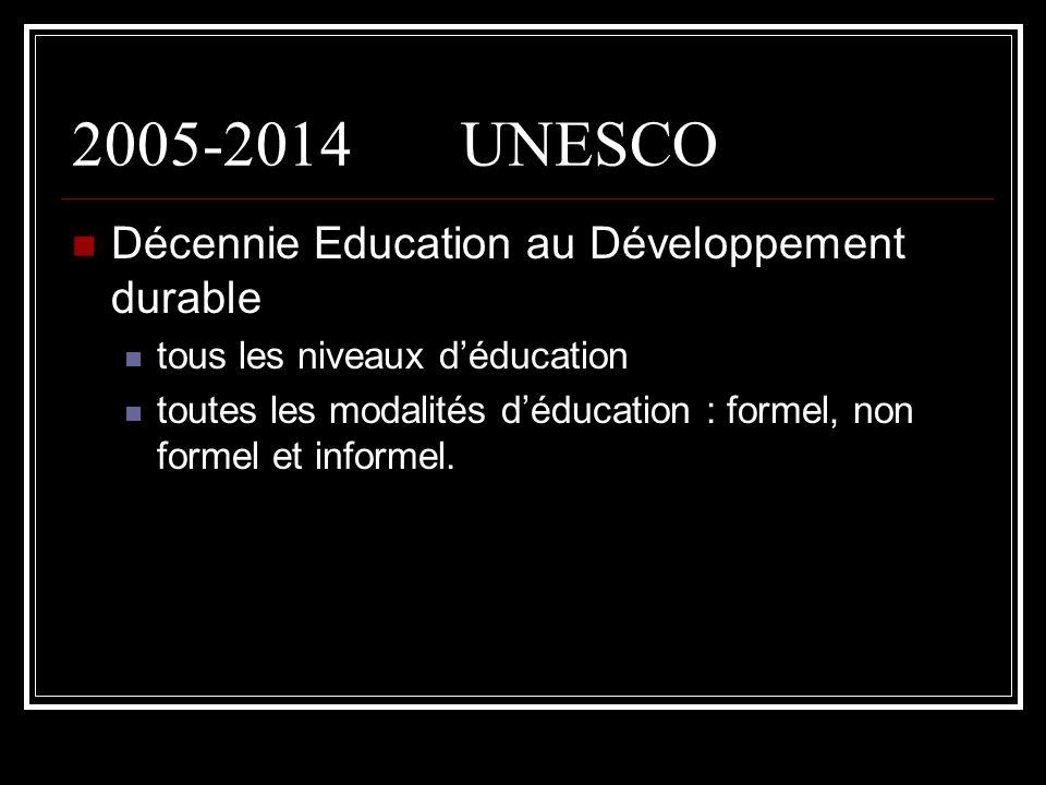2005-2014 UNESCO Décennie Education au Développement durable