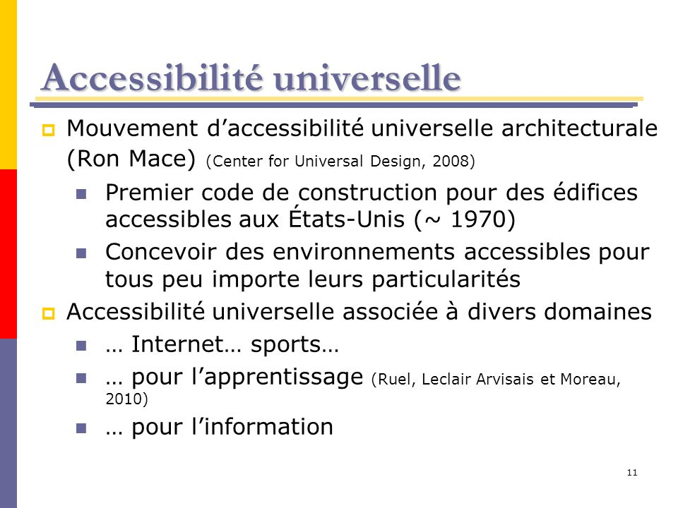 Accessibilité universelle