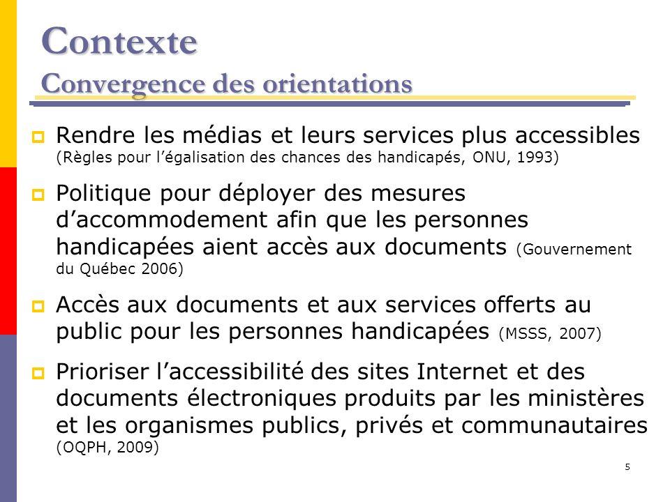 Contexte Convergence des orientations