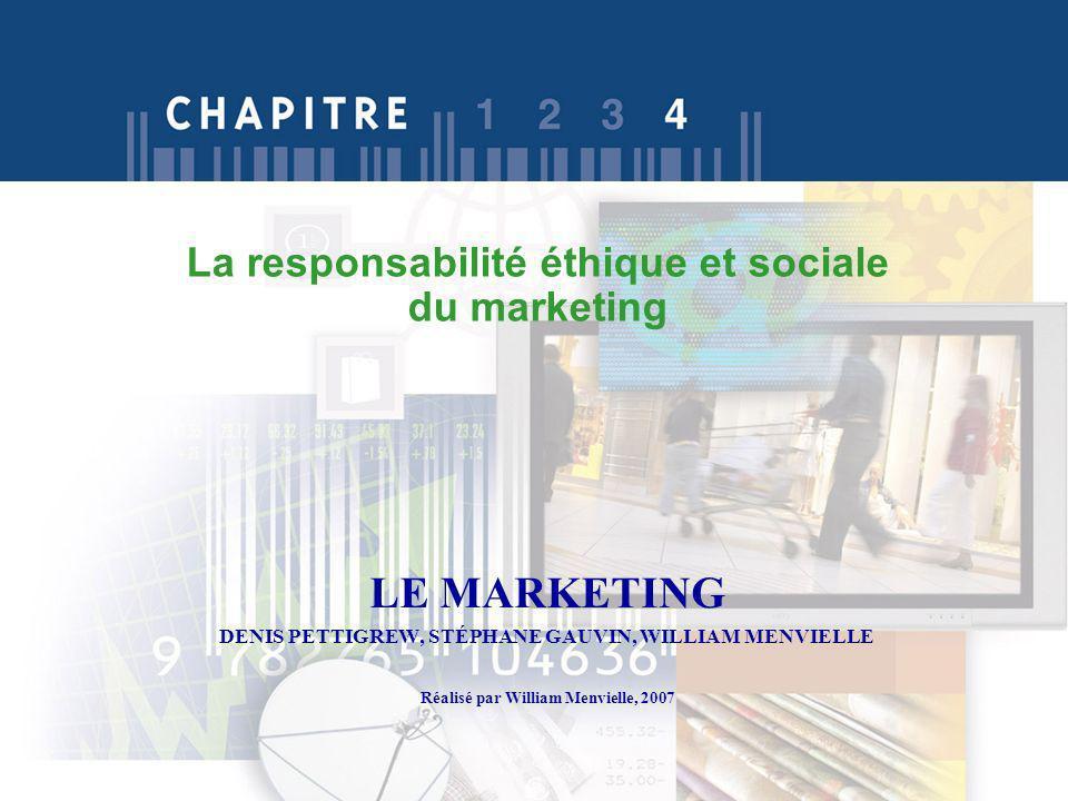 La responsabilité éthique et sociale du marketing