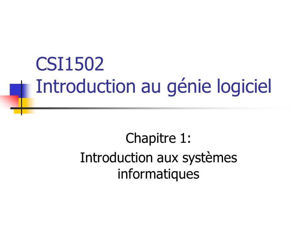 CSI1502 Introduction au génie logiciel