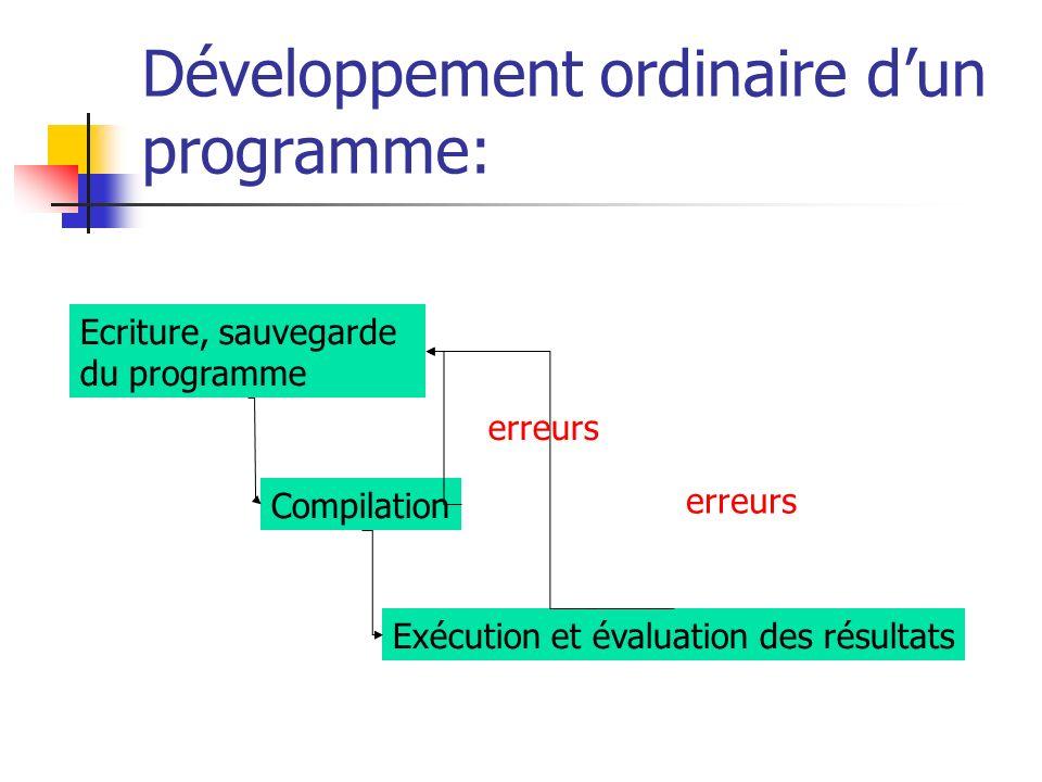 Développement ordinaire d'un programme: